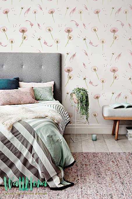Dandelion And Feather Pattern Wallpaper