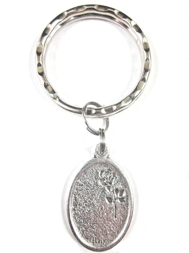 Amazon.com: ST Teresa de Avila medalla Italia llavero caja ...
