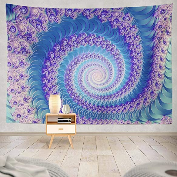 Beautiful Wall Tapestries,ONELZ Wall Hanging Tapestry for Bedroom,Psychedelic Tapestry Abstract Artistic Beautiful Color Cosmic Dream Elegant Fantastic Fantasy Decor Room 60 L X 80 W,Abstract Art Art
