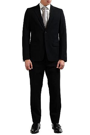 03186b9c Prada Wool Black Two Button Men's Suit US 40R IT 50R at Amazon Men's ...