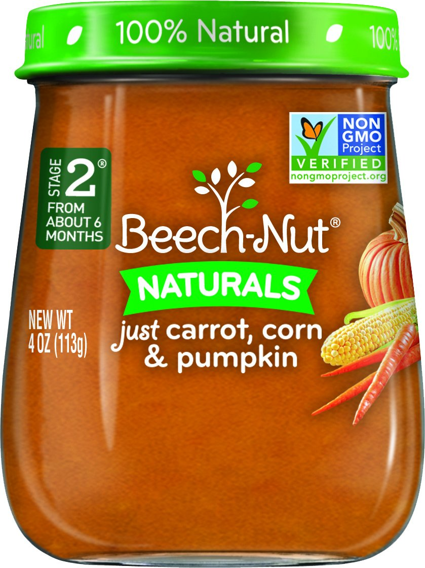 Beech-Nut Stage 2 Baby Food, Carrot/Corn/Pumpkin, 4 Ounce (Pack of 10)