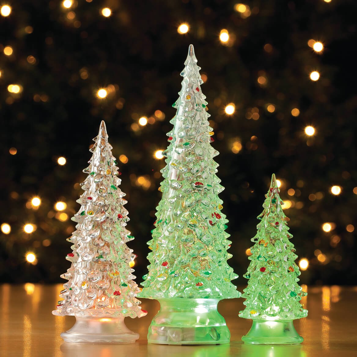 Amazon.com: Color Changing Acrylic Trees, Set of 3: Home & Kitchen