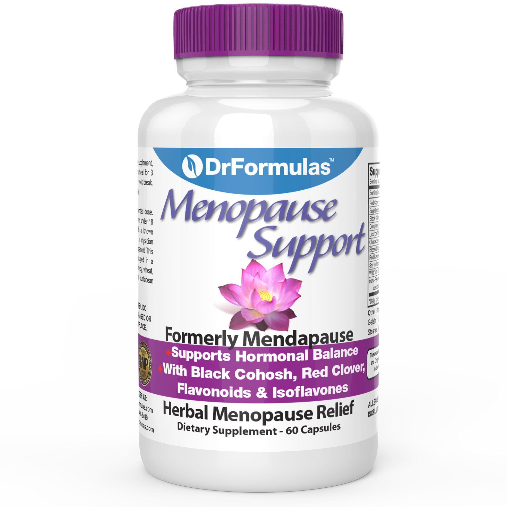 DrFormulas Menopause Supplements for Relief, Support and Weight Loss | Black Cohosh Extract for Hot Flashes, Vitamins, Dong Quai, 60 Count Complex by DrFormulas
