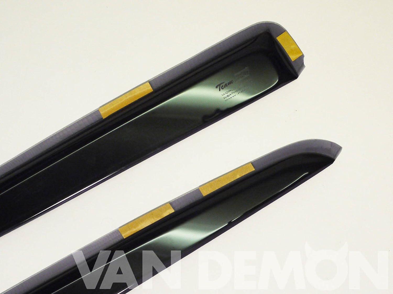 Heko Front and Rear Window Tinted Acrylic Wind Deflectors 4 Piece Set