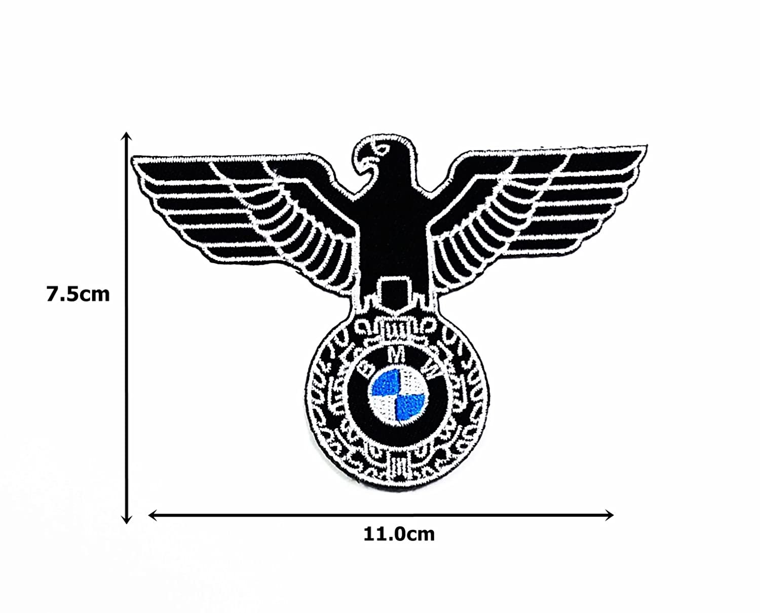 Amazon bmw german bundesadler eagle coat of arms world war ww amazon bmw german bundesadler eagle coat of arms world war ww ii gsa toppa mottorrad motorcycles jacket polo shirt t shirt patch for collection with buycottarizona Gallery