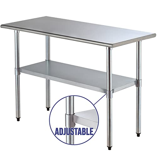 Mecor 2FT X 4FT Stainless Steel Commercial Catering Table Kitchen  Restaurant Work Bench Food Work Prep