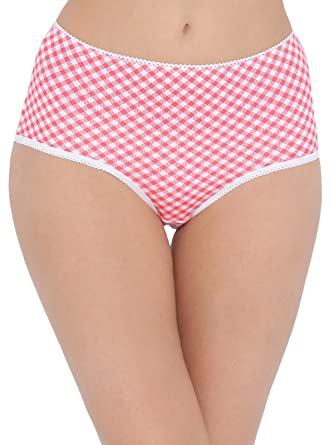 f6f7a16fa Clovia Women s Cotton High Waist Checked Hipster Panty  Amazon.in  Clothing    Accessories
