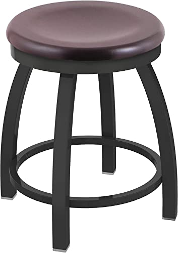 Holland Bar Stool Co. Misha Swivel Vanity Stool, 18 Seat Height, Dark Cherry Maple