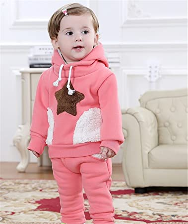 36663b194 Amazon.com  Baby Apparel Girl Warm Winter Cotton Dresses Hooded Baby ...