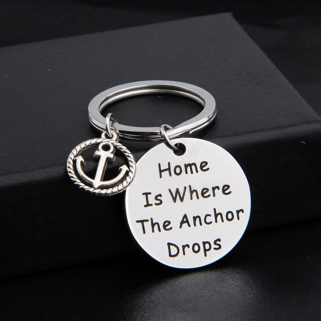 Zuo Bao Nautical Jewelry Anchor Keychain Home Is Where The Anchor Drops Ocean Jewelry Gifts (Keychain) by Zuo Bao (Image #2)