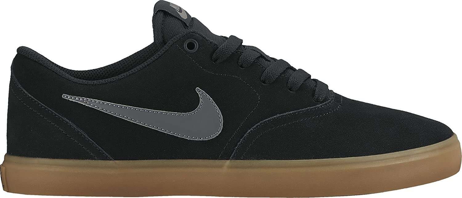 detailed look 96320 dbaa9 Amazon.com   Nike Men s SB Check Solar Skate Shoe Black Anthracite Gum  Brown 12   Basketball