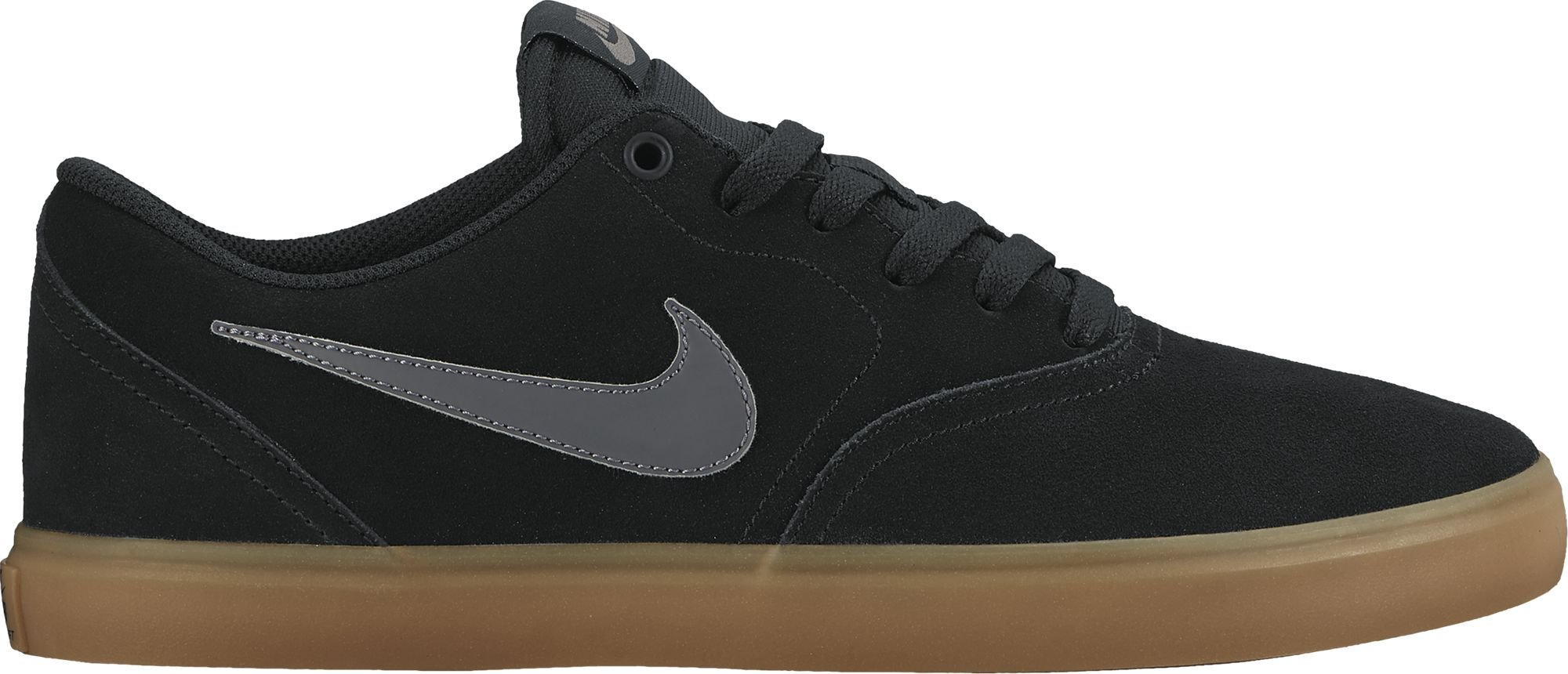 NIKE Men's SB Check Solar Skate Shoe, Black Anthracite Gum Brown 7.5