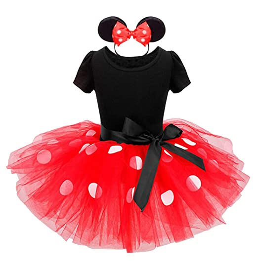 9ea169610ad2 Amazon.com: Toddler Girls Tutu Princess Dress+Headband,Costume Polka Dot  Party Wedding Pageant Ballet Lace Dress: Clothing