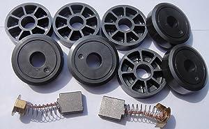 Harmar SL350 Service Kit - (2) Motor Brushes & (8) Wheels