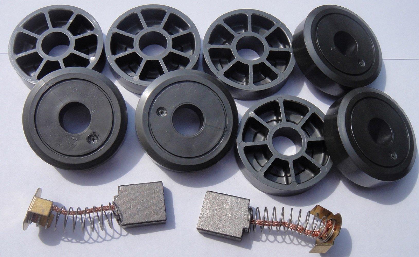 Harmar SL350 Service Kit - (2) Motor Brushes & (8) Wheels - Free Shipping by Jameson