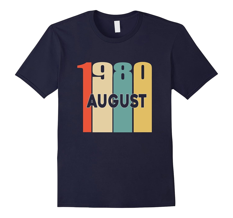 Retro Vintage 1980 Born in August 37th Birthday Tshirt-Art