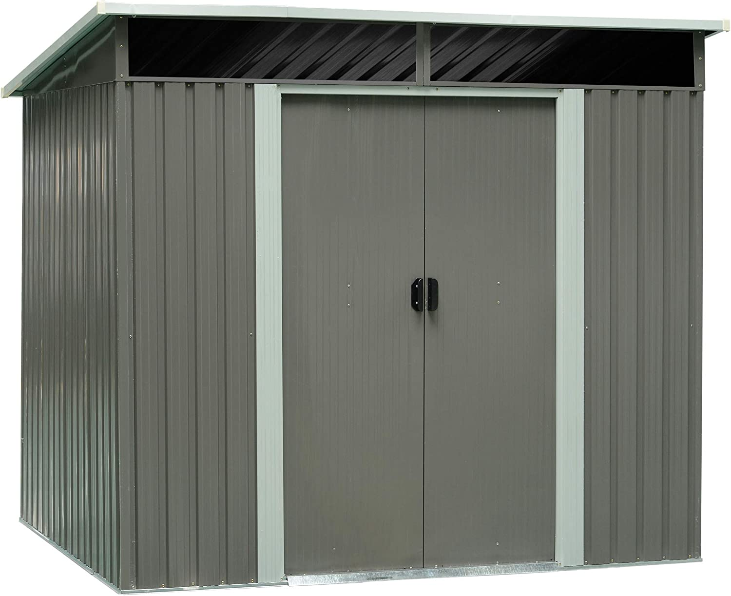 Outsunny 6.3 x 7.8 Steel Outdoor Garden Storage Shed Yard Tool House