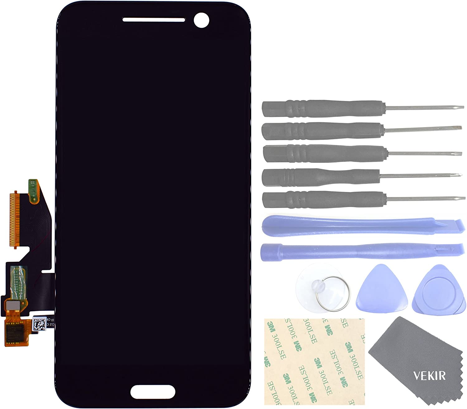 VEKIR Touch Display Digitizer Screen Replacement for HTC 10(Black)