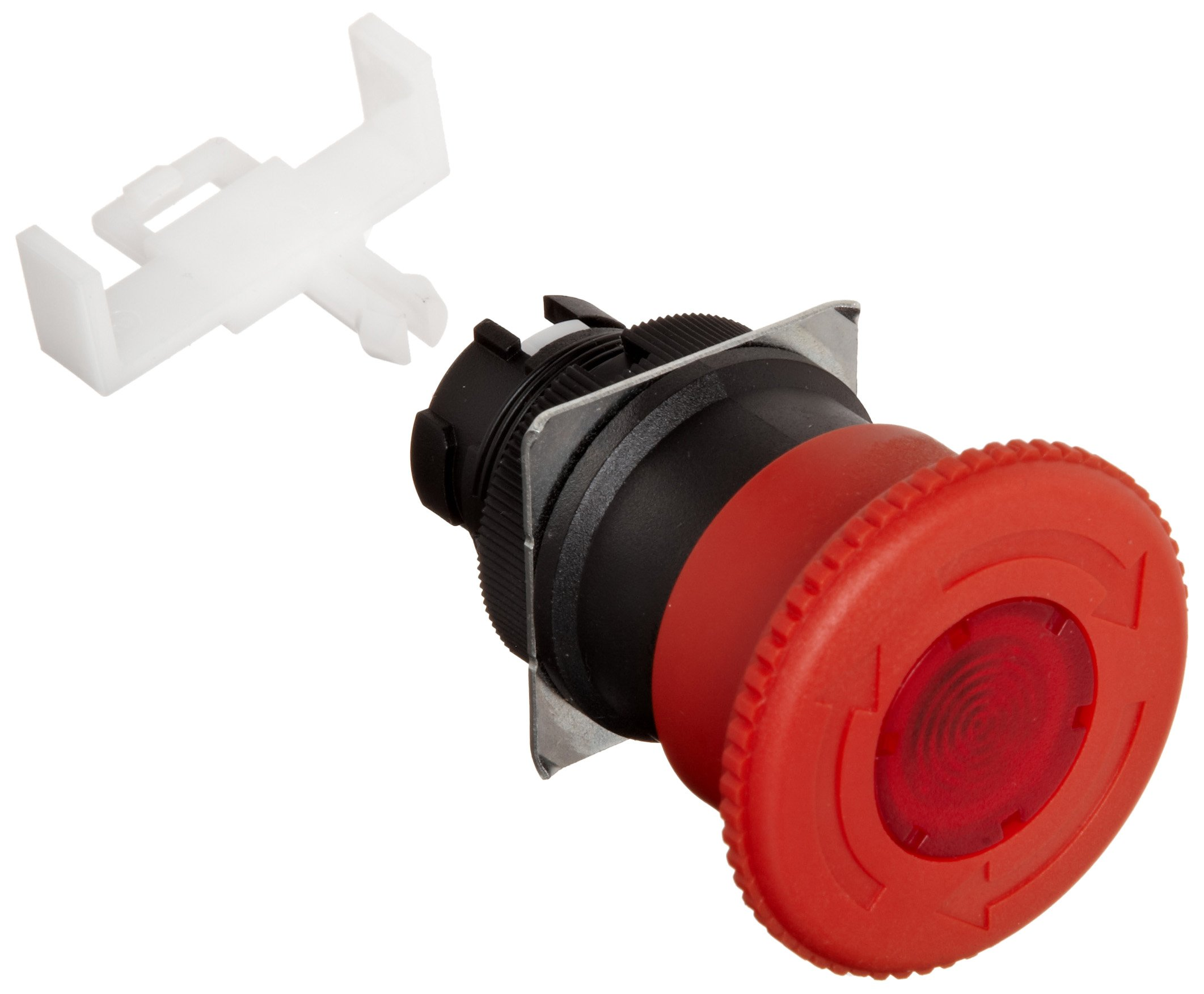 Omron A22EL-M Emergency Stop Operation Unit, IP65 Oil-Resistant, Lighted, Push-Lock Turn-Reset Operation, Red, 40mm Diameter