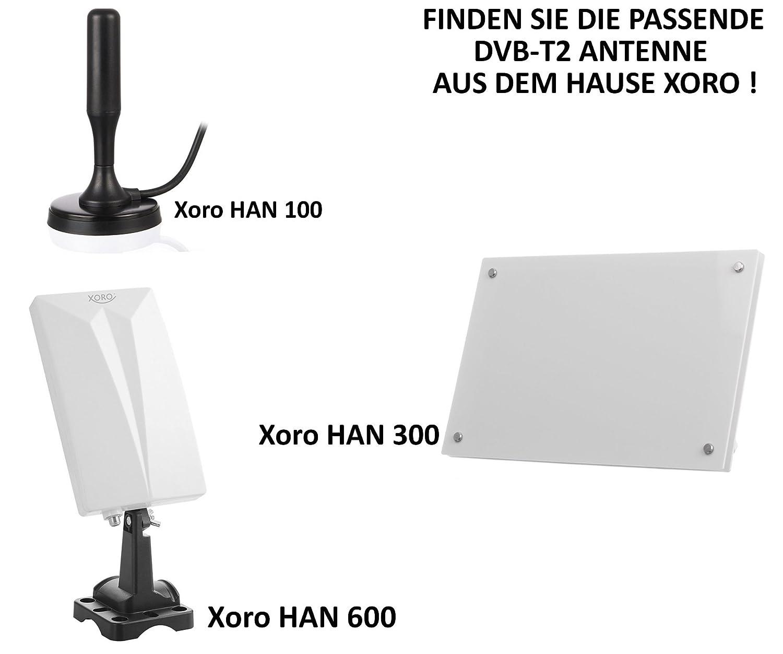 Xoro HRT 8730/Hybrid DVB-C//DVB-T//T2/Ricevitore nero HDTV H.265, kartenloses Irdeto-SISTEMA DI ACCESSO PER freenet TV, TV via cavo, lettore multimediale, PVR Ready, HDMI, USB 2.0, 12/V