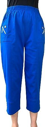 Pantalones Capri Para Mujer De Tres Cuartos Suaves A La Moda De Cerezo 3 4 Amazon Es Ropa Y Accesorios