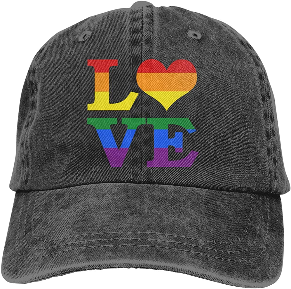 Rainbow The Gay Pride Unisex Baseball Cap Quick Dry Sport Baseball Caps Adjustable Trucker Caps Dad-Hat