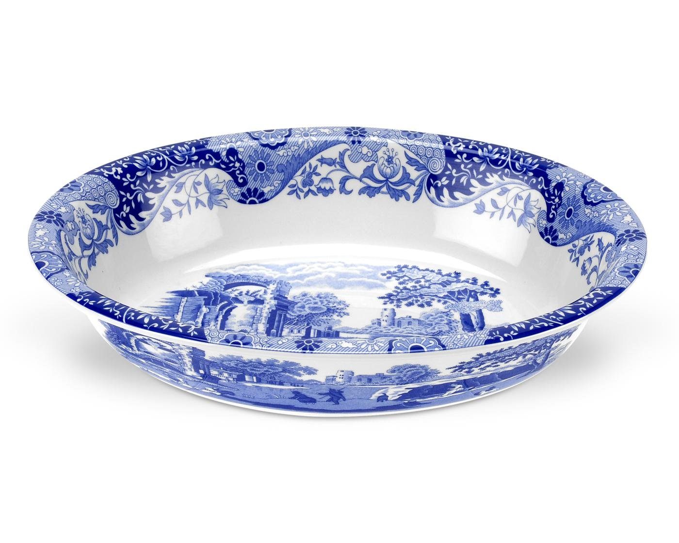 Spode Blue Italian Oval Rimmed Dish by Spode (Image #1)