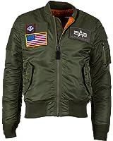 Alpha Industries Men's MA-1 Slim Fit Flex Flight Bomber Jacket