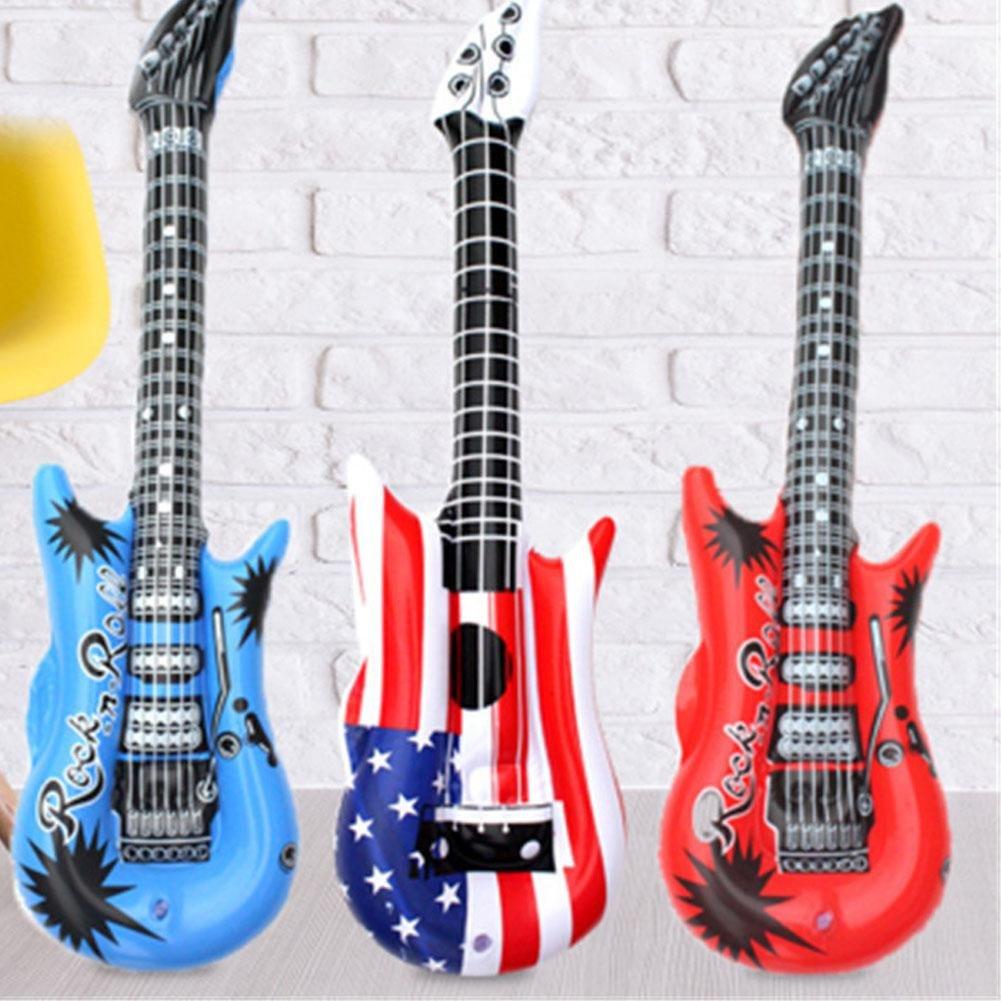Lembeauty - Juego de 12 Guitarras inflables para niños y Adultos, Color al Azar
