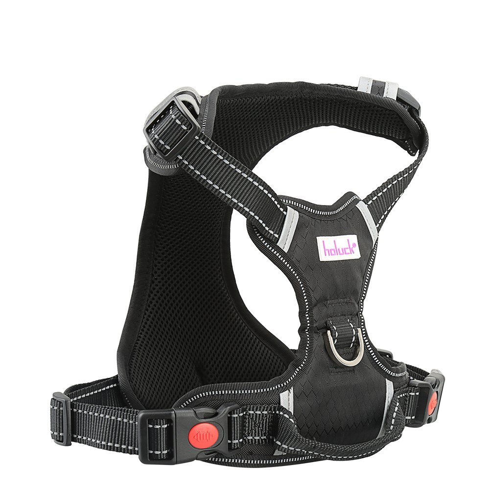 HOLUCK Dog Harness Large No Pull Front Dog Harness Freedom, Harness Dog Adjustable Outdoor Pet and 3M Reflective Oxford Material Vest for Small Dogs (L)