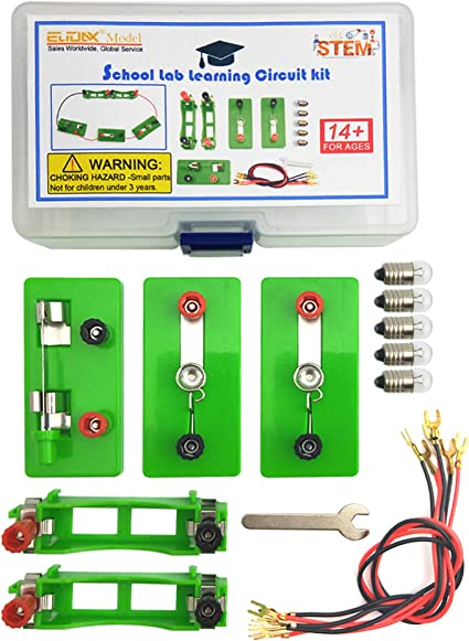 Electric Circuit Kit Kids Children School Science Educational DIY Toys