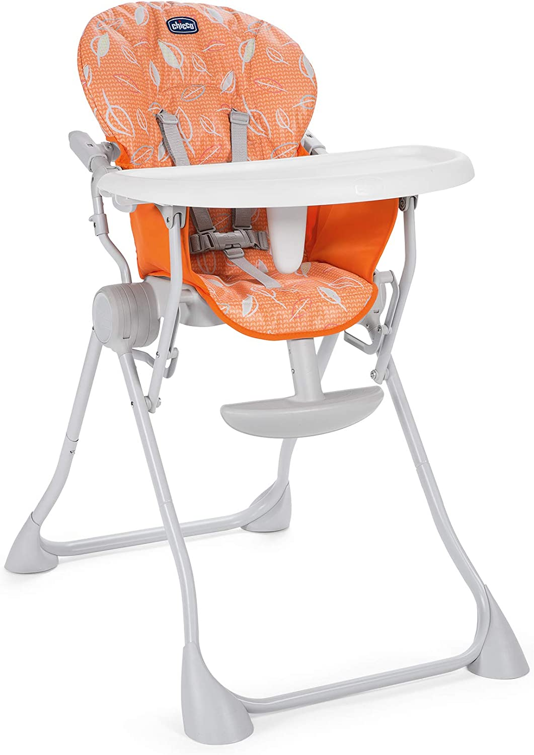 Chicco Chaise Haute Bébé Pocket Meal Happy Orange Ultra Compacte