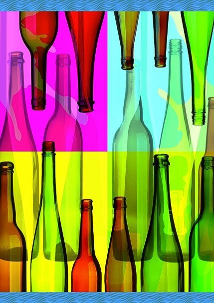 Amazon Com Toland Home Garden Pop Art Bottles Decorative Colorful