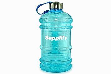 Supplify - Botella de agua de plástico tritán, de 2,2 litros. Botella