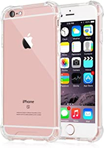 iXCC [Crystal Clear] iPhone 6 6s Case, NewCover Case [Shock Absorption] with Transparent Hard Plastic Back Plate and Soft TPU Gel Bumper - Clear
