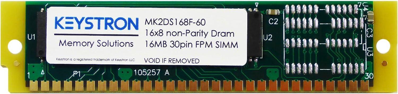 16MB 30pin Non-Parity SIMM RAM Memory 60ns for Apple, Macintosh, Musical Sampler, Old PC, Video Controller