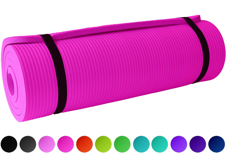 ReFit Sportmatte / 10 Farben / 1 cm / 1.5 cm / rutschfest / für alle Sportarten geeignet / Maße 183 x 61 cm / inklusive Trageband
