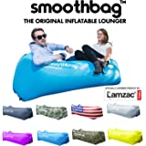 SmoothBag Portable Inflatable Lounger Sofa with Headrest | Premium Banana Hammock Couch for camping, hiking, festivals, pool, outdoor lounging | Durable Air Chair Lounging Sofa