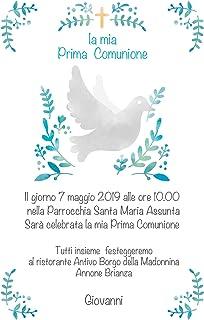Inviti comunione partecipazioni personalizzata cerimonia bimbo bimba 10 pz