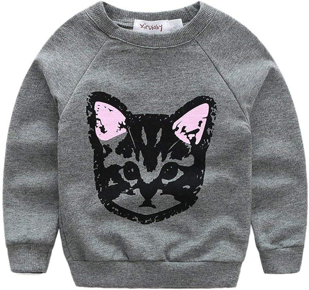 Pluderhosen Sch/öne Katze Gedruckt Kinder Outfits Trainingsanzug f/ür 2-7 Jahre EFINNY Baby M/ädchen Jungen Kleidung Sets Langarm T-Shirt Top