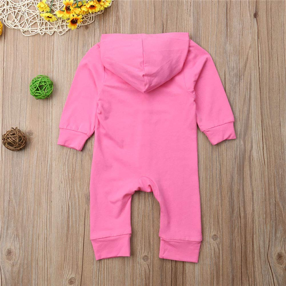 Carolilly Unisex Baby Hooded Romper Cotton Sleepsuit Babygrow Jumpsuit