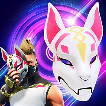 Fortnite Fox Mask Helmet Halloween mask Fortnite Costume Cosplay mask for Halloween, Party, Christmas(Plastic). Amazons Choice