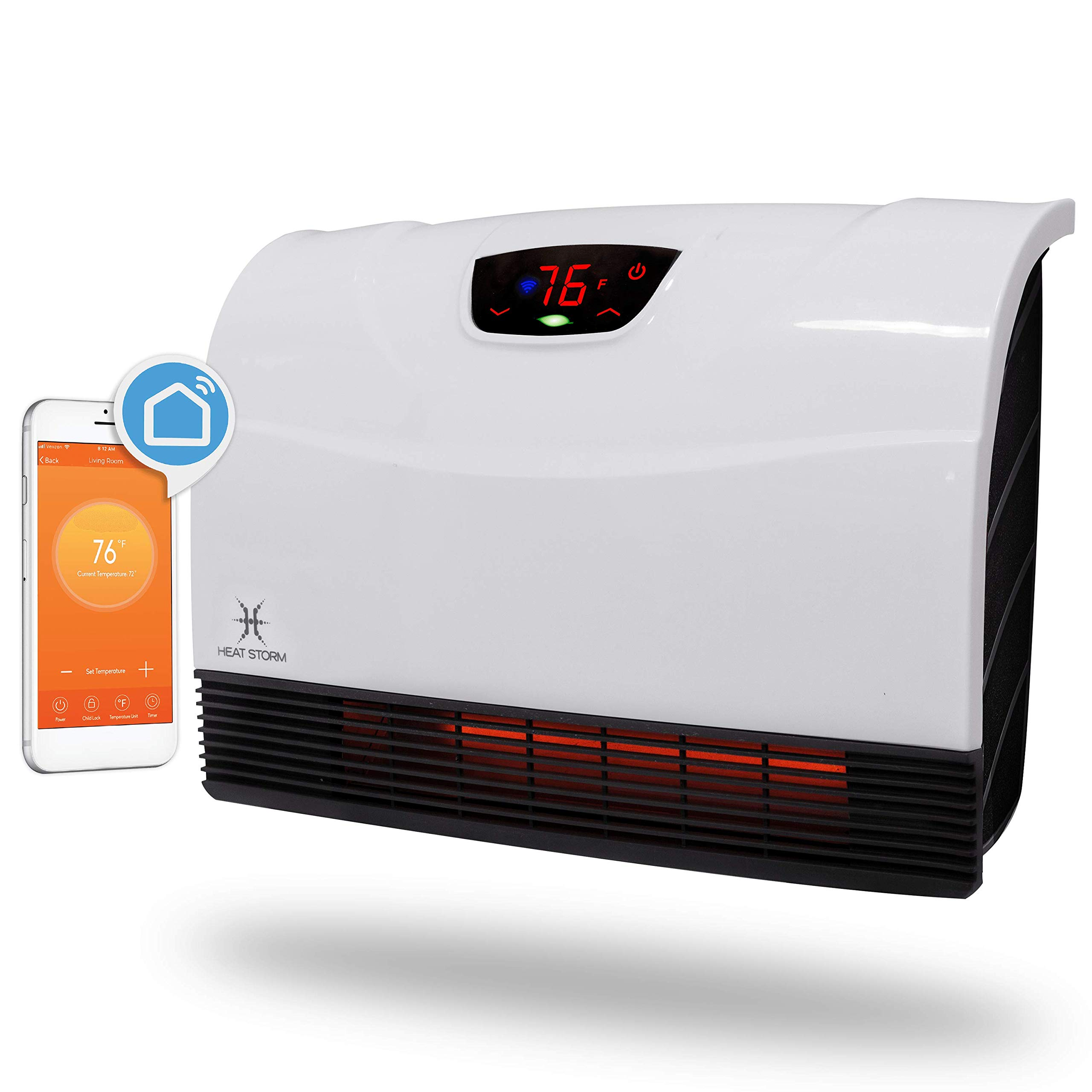 Heat Storm HS-1500-PHX-WIFI Infrared Heater, WiFi by Heat Storm