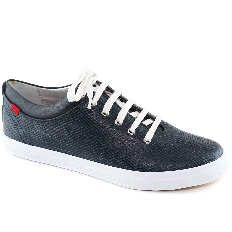 Marc Joseph New York Women's Bleecker Street Navy Cobra Sneaker 7