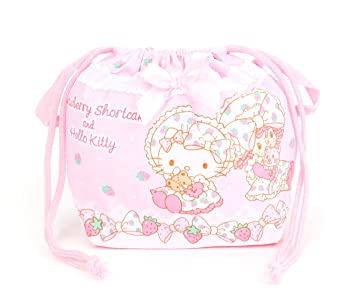 Amazon.com   Hello Kitty x Strawberry Shortcake Drawstring Lunch Bag    Beauty 143e84577e40c