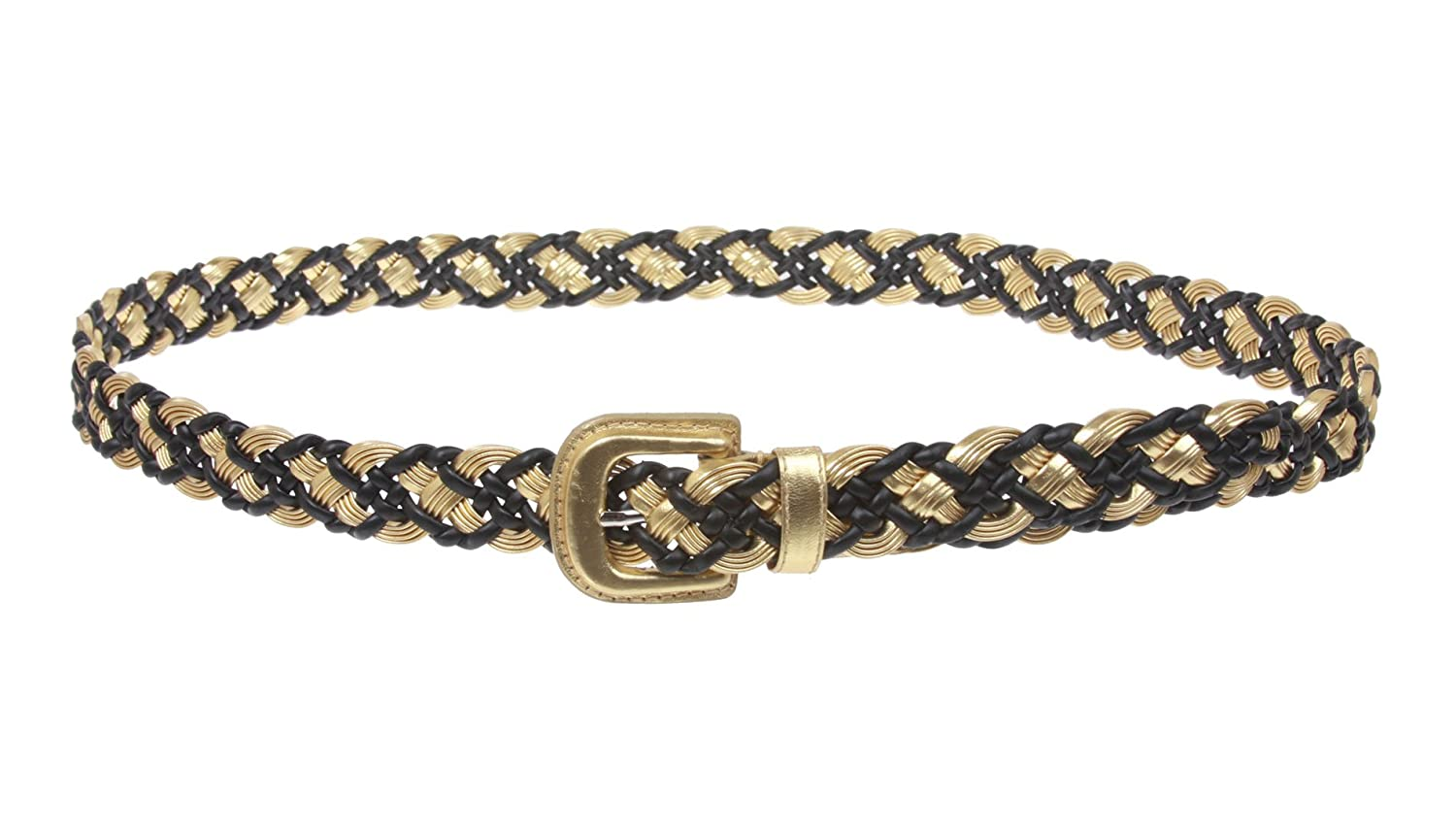 """Women's 1"""" Braided Woven Non Leather Belt"""