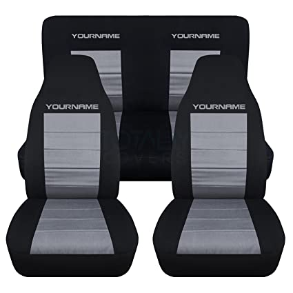 Car Seat Covers for Ford Mustang 2 Tone Red /& Black w// Split Bench
