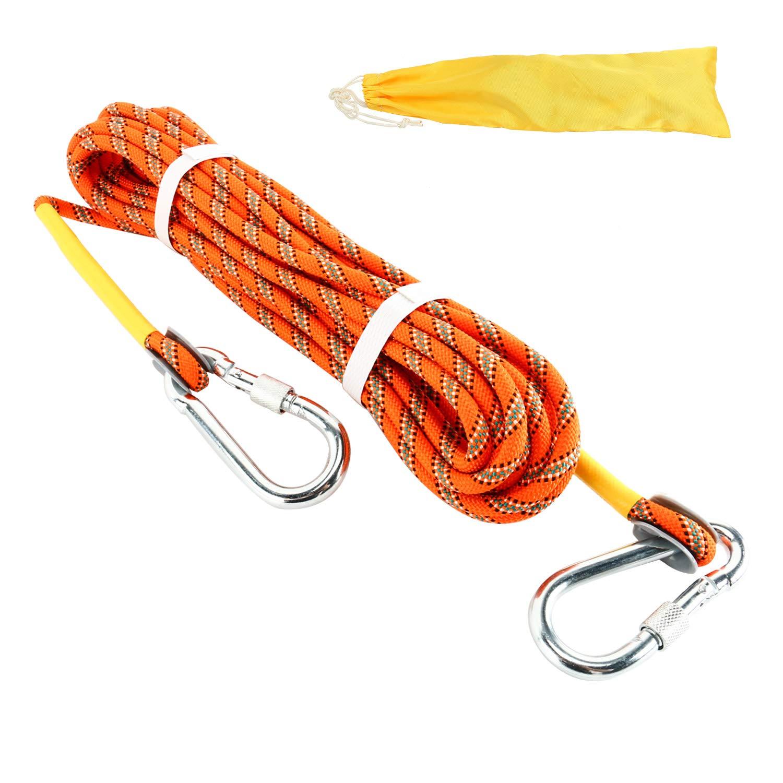 Yaegoo アウトドアクライミングロープ 10m (32フィート) 20m (64フィート) 30m (96フィート) 静電気ロッククライミングロープ エスケープロープ アイスクリーミング機器 消防救助パラシュートロープ 32 foot オレンジ B07P5BQFND