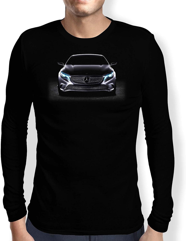 Mercedes 4 Camiseta Hombre Coche Clipart Car Auto tee Top Negro Mangas Largas Cortas Presente