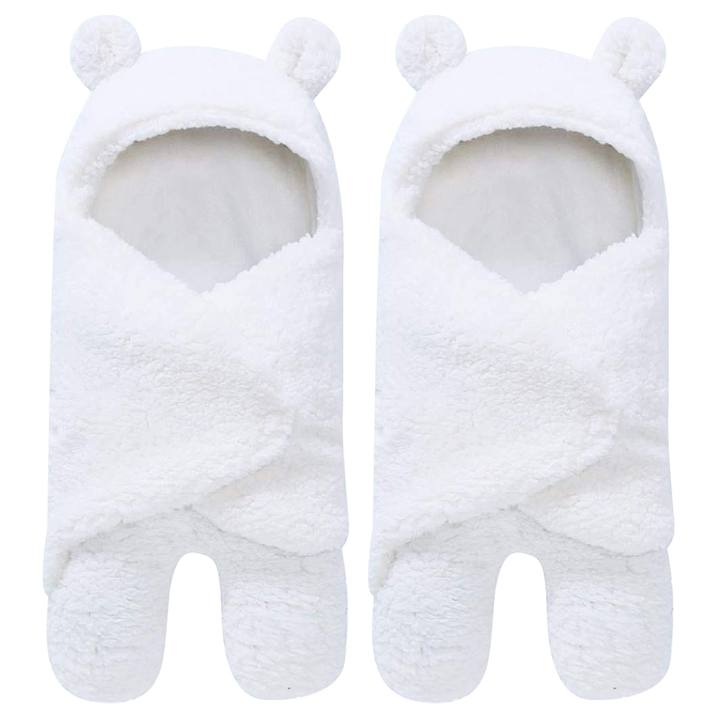 2 Pack Sherpa Baby Swaddle Blanket – Ultra Soft Plush Essential for